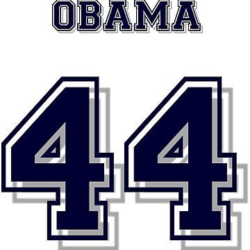 Obama 44 T-Shirt/Jersey - President Barack Obama by sbaldesco