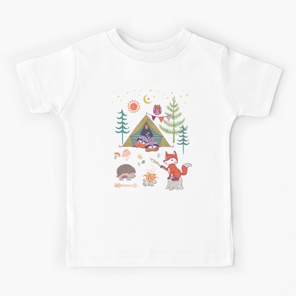 Woodland Animals Campout Kids T-Shirt