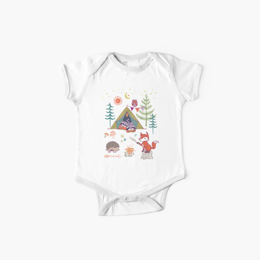 Woodland Animals Campout Baby One-Pieces