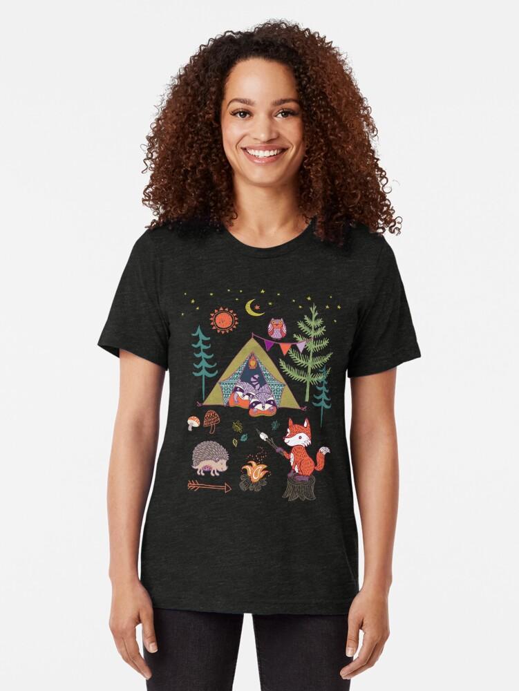 Alternative Ansicht von Waldtiere Campout Vintage T-Shirt