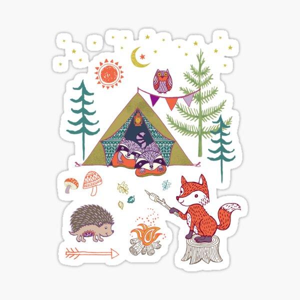 Woodland Animals Campout Sticker