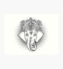 Iconic Hindu Ganesh Art Print