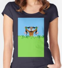 Duck Hunt In Game Screen. Women's Fitted Scoop T-Shirt