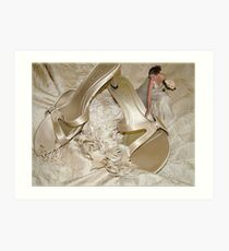 This Bride Loved Her Shoes Art Print