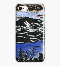 Mt Lafayette and Franconia Notch from Concord, Vermont iPhone Case/Skin