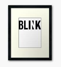 blink ;) Framed Print