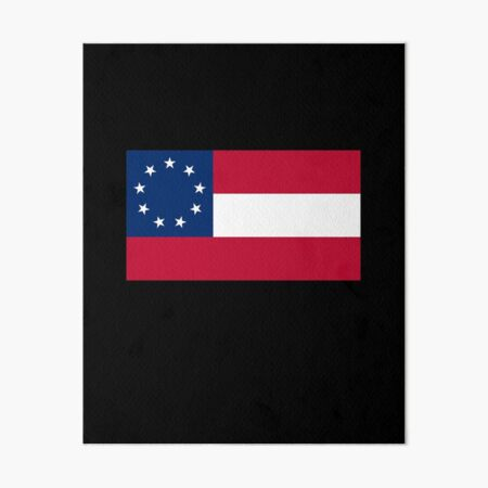 Stars & Bars. USA, America, First American National Flag, 9 stars, 1861. Art Board Print