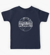 Hack the Planet - Light Gray Design for Computer Hackers Kids Tee