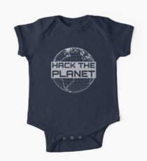 Hack the Planet - Light Gray Design for Computer Hackers One Piece - Short Sleeve