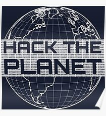 Hack the Planet - Light Gray Design for Computer Hackers Poster