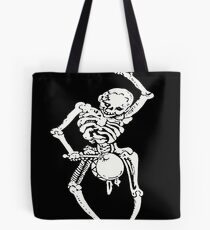 Zombie Undead Skeleton Marching and Beating A Drum Tote Bag