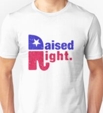 Raised Right - Republikanischer Elefant Slim Fit T-Shirt