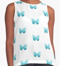 Geometric Triangle Butterfly in Teal Contrast Tank