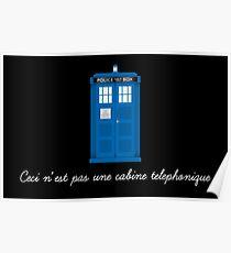 Ceci n'est pas une cabine telephonique Poster