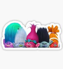 Trolls from Dreamwork's Trolls - White Sticker