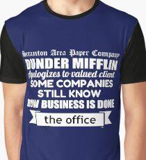 The Office - Michael Scott - Funny Quote Newspaper Headline  Graphic T-Shirt