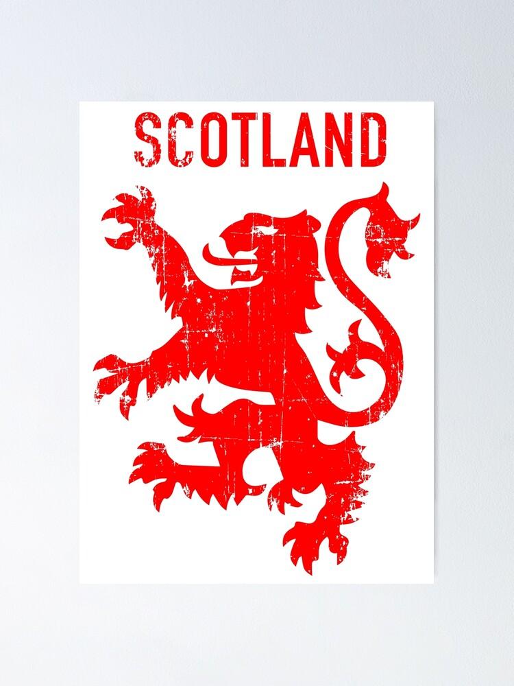 British Bumper Sticker Decal SCOTLAND Scottish Coat of Arms UK Lion Rampant