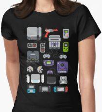 Super Pixel meiner Kindheit Tailliertes T-Shirt für Frauen
