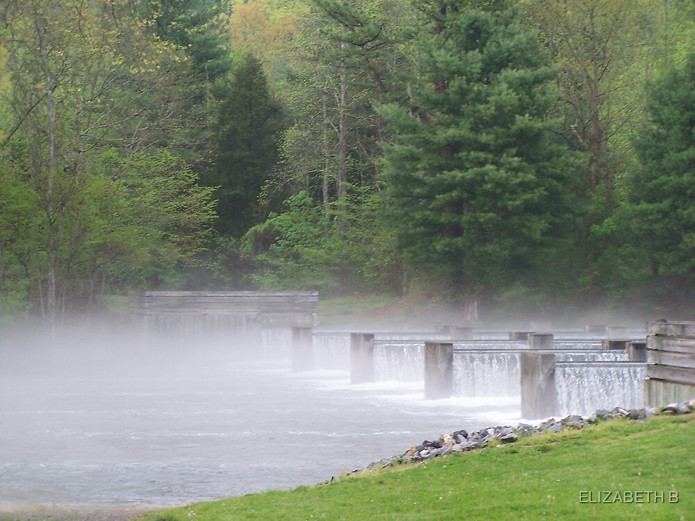 fog on the water by ELIZABETH B