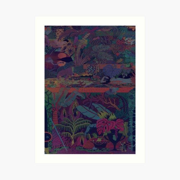 ZABA patterns Glass Animals Art Print