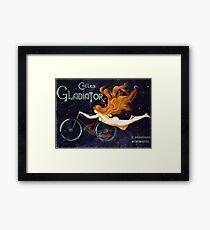 Vintage Gladiator Bicycles Advertisement Framed Print