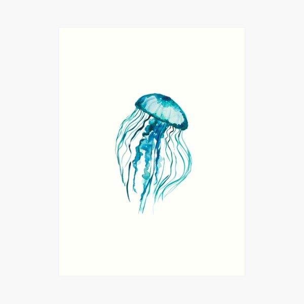 Watercolor Jellyfish Art Print