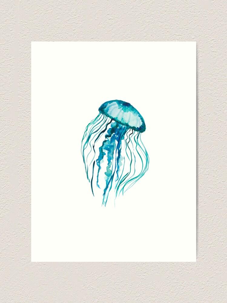 Watercolor Jellyfish Art Print By Ilzesgimene Redbubble