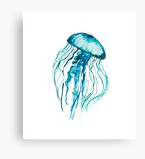 Watercolor Jellyfish Canvas Print