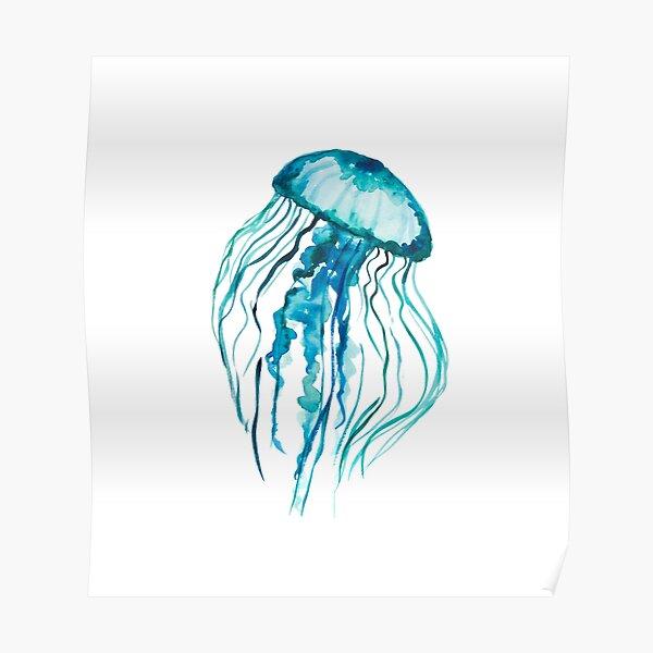 Watercolor Jellyfish Poster