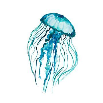Watercolor Jellyfish by ilzesgimene