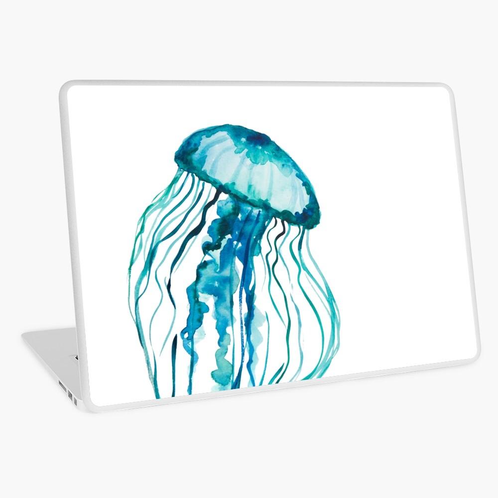 Watercolor Jellyfish Laptop Skin