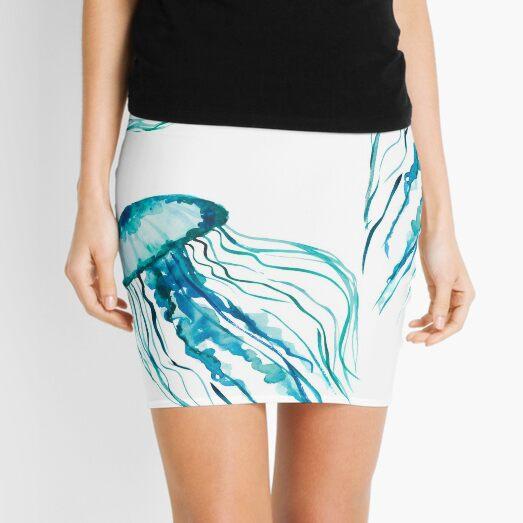 Watercolor Jellyfish Mini Skirt