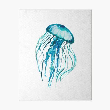 Watercolor Jellyfish Art Board Print