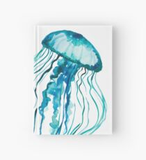 Watercolor Jellyfish Hardcover Journal
