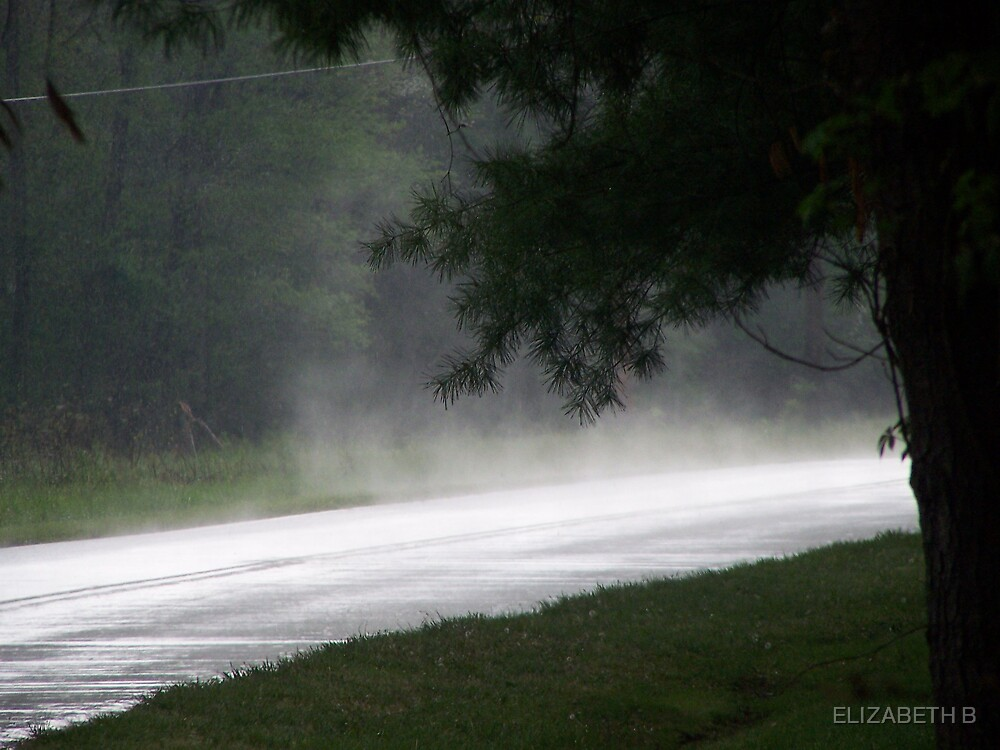 RAIN ON THE ROAD by ELIZABETH B