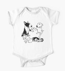 English Bull Terrier Family  One Piece - Short Sleeve