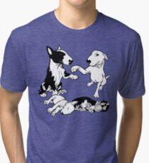 English Bull Terrier Family  Tri-blend T-Shirt