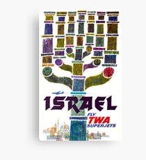 Vintage Israel Travel Canvas Print
