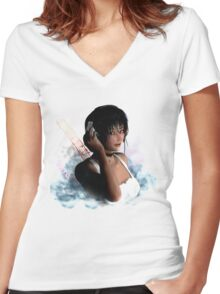 Just Breathe Women's Fitted V-Neck T-Shirt