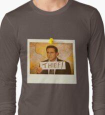The Office - Michael Scott Funny Thief Photo - Graphic Design T-Shirt