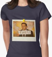 The Office - Michael Scott Funny Thief Photo - Graphic Design Women's Fitted T-Shirt