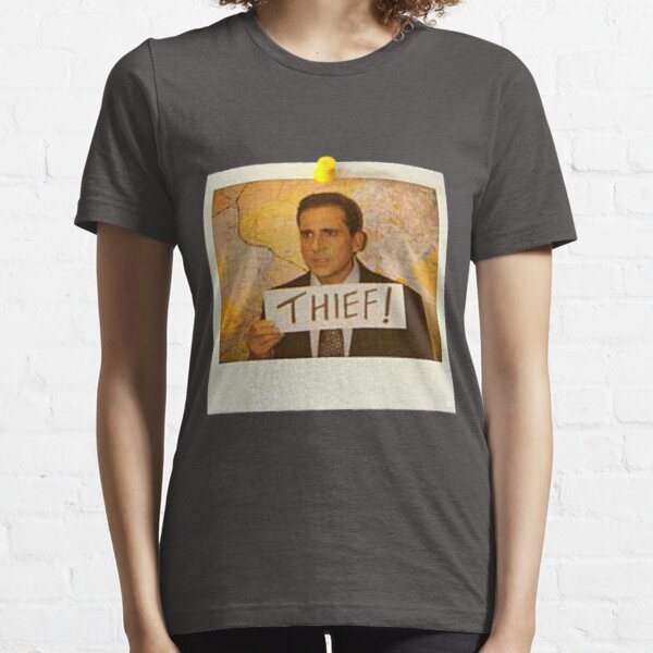 The Office - Michael Scott Funny Thief Photo - Graphic Design Essential T-Shirt