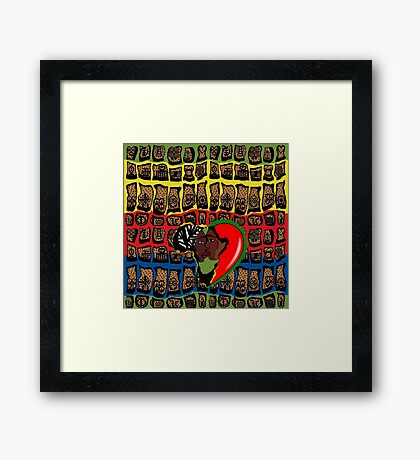 I Am Wakanda Framed Print