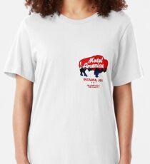 motel americana Slim Fit T-Shirt
