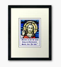Jesus Fascism Not Christianity Framed Print