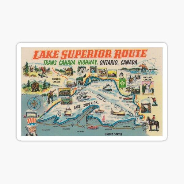 Vintage Lake Superior Ontario Canada Travel Sticker