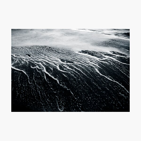 remains of a wave Photographic Print