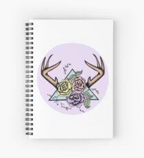 Pastel Antlers  Spiral Notebook