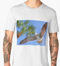 A Seagull Flyby    Men's Premium T-Shirt