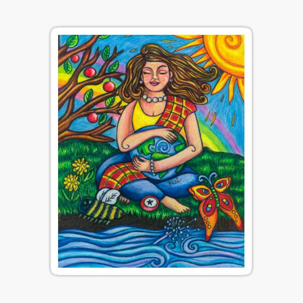 Child Earth from Joy and Sorrow Oracle.  Sticker